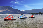 Pedal Framed Prints - Pedal boats on Lake Maggiore Framed Print by Joana Kruse