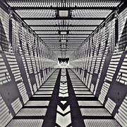 Cage Digital Art - Pedestrian Bridge by Sharon Lisa Clarke