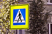 Crosswalk Prints - Pedestrian crossing sign. Print by Fernando Barozza