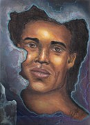 African American Artist Pastels - Peer Thru by Alga Washington