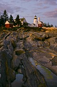 Pemaquid Posters - Pemaquid Point Lighthouse Poster by Sean Cupp