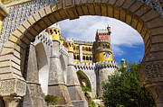 Royal Art Framed Prints - Pena Palace Framed Print by Carlos Caetano