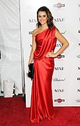 Red Dress Framed Prints - Penelope Cruz At Arrivals For New York Framed Print by Everett