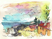 Atlantic Drawings Prints - Peniche in Portugal 11 Print by Miki De Goodaboom
