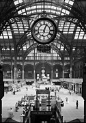 1960s Photo Framed Prints - Pennsylvania Station, Interior, New Framed Print by Everett