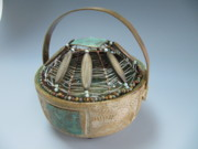Brass Etching Sculptures - Periwinkle by Brenda Berdnik