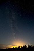 Haze Photo Posters - Perseids Meteor Shower Poster by Zoltan Kenwell