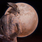 Luna Mixed Media Prints - Perseus Print by Jose Luis Munoz Luque