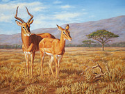 African Wildlife Art - Persistence by Crista Forest