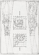 Human Head Photos - Perspective Diagrams, 17th Century by Middle Temple Library
