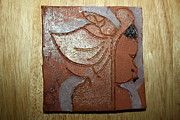 Clay Ceramics Posters - Perusal - tile Poster by Gloria Ssali