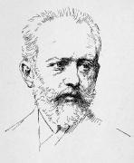 Peter Ilich Tchaikovsky Print by Granger