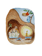 Kids Room Art Paintings - Peter Rabbit and His Dream by Irina Sztukowski