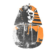 Egyptian Digital Art Prints - Pharaoh stencil  Print by Pixel  Chimp