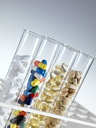 Tablets Prints - Pharmaceutical Research Print by Tek Image
