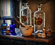 Glass Bottles Prints - Pharmacist - Mortar and Pestle Print by Paul Ward