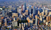 Philadelphia From The Air Prints - Philadelphia Center City Rittenhouse Square Print by Duncan Pearson