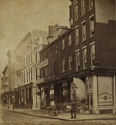 Window Signs Art - Philadelphia In 1870. Stereoscopic View by Everett
