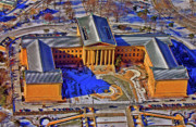 Aerial Photography Originals - Philadelphia Museum of Art 26th Street and Benjamin Franklin Parkway Philadelphia Pennsylvania 19130 by Duncan Pearson