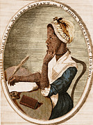 Negro Framed Prints - Phillis Wheatley, African-american Poet Framed Print by Photo Researchers