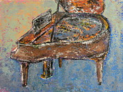 Piano Keys Painting Originals - Piano Study 1 by Anita Burgermeister