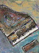 Piano Keys Painting Originals - Piano Study 8 by Anita Burgermeister