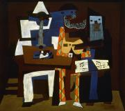 Pablo Prints - Picasso: Three Musicians Print by Granger