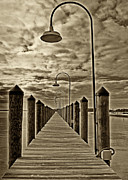Rehoboth Beach Prints - Pier at Dewey Beach Print by Jack Paolini