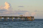 Fishing Pier Posters - Pier Poster by Blink Images