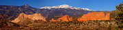 Snow-capped Peak Prints - Pikes Peak and Garden of the Gods Print by Jon Holiday
