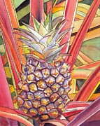 Marionette Paintings - Pineapple by Marionette Taboniar