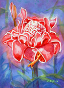 Puerto Rico Paintings - Pink Ginger by Estela Robles