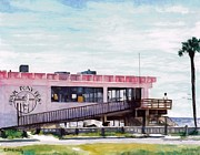 Shores Paintings - Pink Pony Pub by Cyndi Brewer