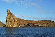 Pinnacle Rock Viewed From Sea Print by Sami Sarkis