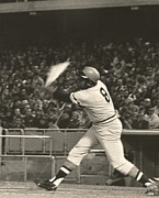 Dodger Stadium Photos - Pittsburgh Pirate Willie Stargell Batting at Dodger Stadium  by Jamie Baldwin