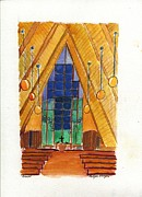 Dakota Paintings - Placerville Chapel by Rodger Ellingson