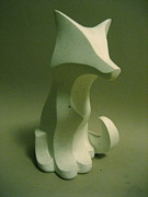 Fox Sculptures - Plainer Fox by Adam Strong