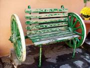 Wheels Painting Framed Prints - Plaka Bench Framed Print by Ellen Henneke