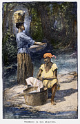 Washtub Prints - Plantation Life, 1886 Print by Granger