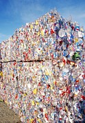 Crushed Prints - Plastic Recycling Print by Alan Sirulnikoff