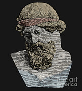 Statue Portrait Metal Prints - Plato, Ancient Greek Philosopher Metal Print by Science Source
