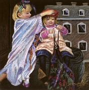 Figures Pastels - Playing Dress-up by Gina Blickenstaff