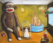 Swim Paintings - Playroom Nightmare 2 by Leah Saulnier The Painting Maniac