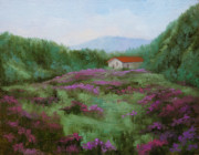 Fields Of Flowers Paintings - Pleasant Valley by Dan Twitchell