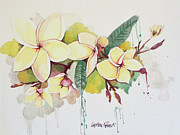 Drips Mixed Media - Plumerias by Lauren Penha