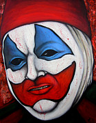 Serial Killer Painting Prints - Pogo the Clown Print by Justin Coffman