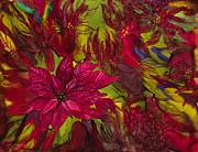 Poinsettias Paintings - Poinsettias by Lisa  Marsing