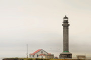 Panoramic Ocean Originals - Point Arena Lighthouse CA by Christine Till