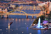 Pittsburgh Pirates Prints - Point State Park  Print by Emmanuel Panagiotakis