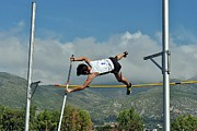 Athlete Photo Originals - Pole Vault Jumps by John Vito Figorito